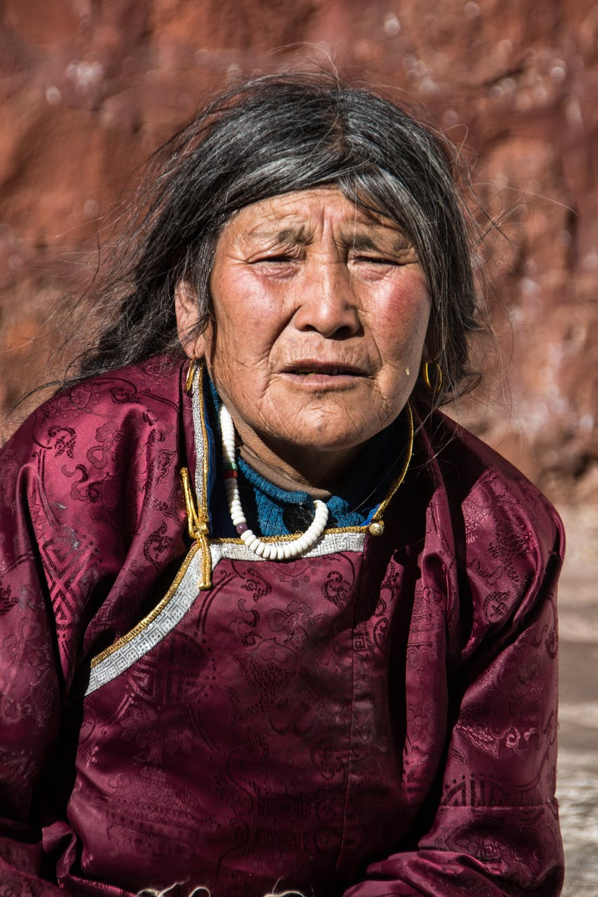 woman indigenous tibet