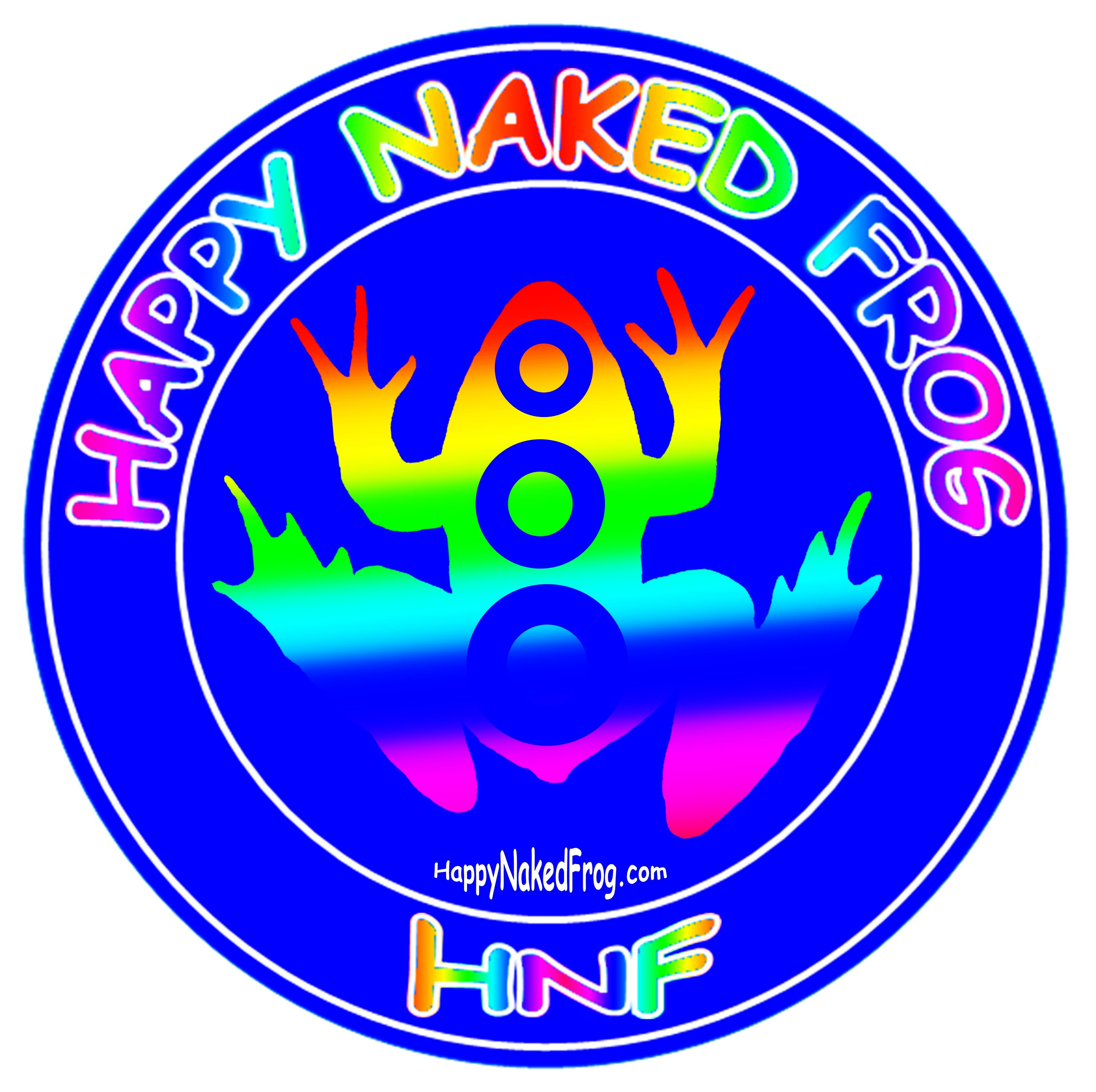 Happy Naked Frog